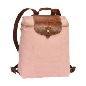 Longchamp Le Pliage Zippered Backpack - Pinky
