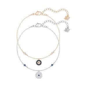 Crystal Wishes Evil Eye Bracelet Set, Blue - Jewelry - Swarovski Online Shop