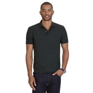 Classic Fit Striped Performance Polo Shirt - Radial Grey   Nautica