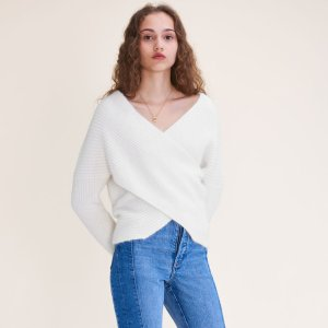 MAGDA Knitted wrap front jumper
