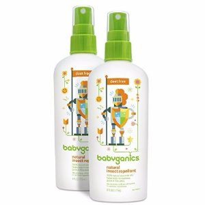 $9.8Babyganics Natural DEET-Free Insect Repellent, 6oz Spray Bottle (Pack of 2)