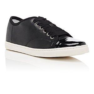 Lanvin Cap-Toe Leather Sneakers | Barneys Warehouse