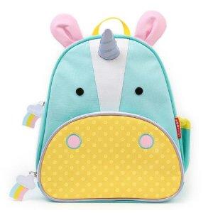Skip Hop Zoo Little Kid Unicorn Green Backpack with Side Mesh Pocket - Toys