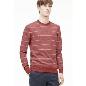 Men's L!VE Micro Stripe Cotton Sweater | LACOSTE