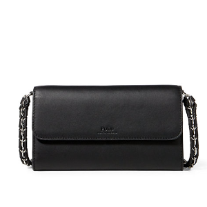 Leather Chain Strap Wallet - Wallets & Small Leather Goods � Women - RalphLauren.com