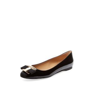 Ninna Patent Leather Flat by Salvatore Ferragamo at Gilt