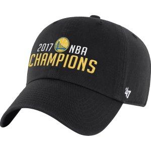 '47 Men's 2017 NBA Champions Golden State Warriors Clean-Up Black Adjustable Hat| DICK'S Sporting Goods