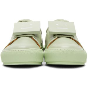 Acne Studios: Green Adriana TurnUp Sneakers