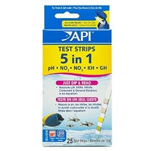$5.84 #1 Best sellerMars Fishcare API 5-IN-1 TEST STRIPS Freshwater and Saltwater Aquarium Test Strips