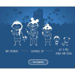 Disney Parks家庭自制成员漫画图像贴纸
