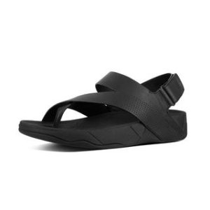 Perf Leather Back-Strap Sandals