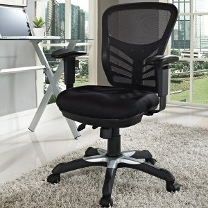 Modway Articulate Black Mesh Office Chair