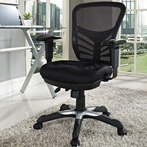 $40.49Modway Articulate 黑色超舒适中背办公转椅