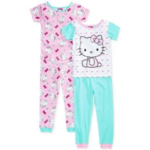 Hello Kitty 4-Pc. Cotton Pajama Set, Toddler Girls (2T-5T) - Sale & Clearance - Kids & Baby - Macy's
