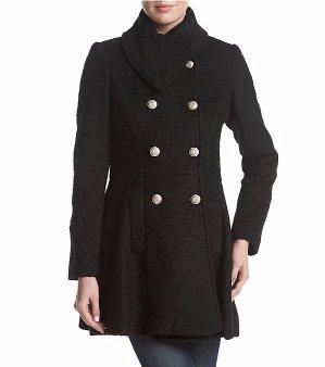 $69.97GUESS 不对称设计双排扣外套 三色