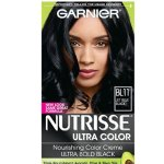 Garnier Nutrisse Ultra Color Nourishing Hair Color Creme, B11 Jet Blue Black