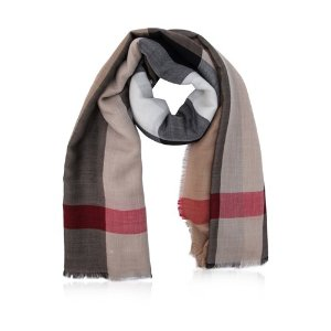 Burberry Lightweight London Check Travel Square Scarf