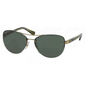Ralph Lauren RA4113 Women's Sunglasses Olive Horn Green Lenses Gold Frame | Focus Camera