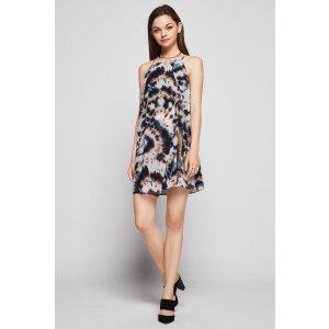 Tie-Dye Print A-Line Dress