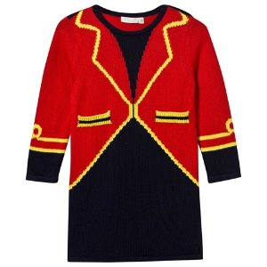 Stella McCartney Kids Red Bow Ringmaster Knit Dress | AlexandAlexa