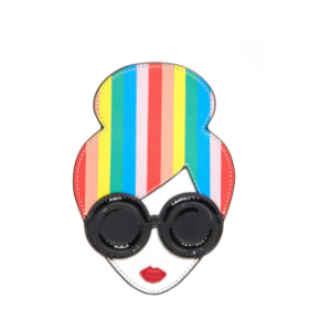 Rainbow Print Stace Face Credit Card Case