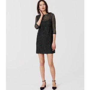 Diamond Lace Shift Dress | LOFT