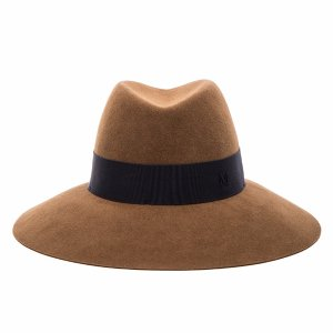 Maison Michel Kate Vintage Large Hat in Camel | FWRD