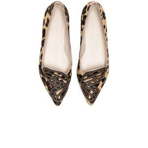 SHOP BY CATEGORY Sophia Webster Calf Hair Bibi Butterfly Leopard Flats