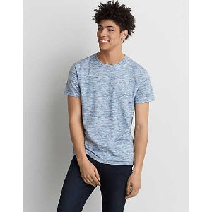 AEO Solid Flex Crew T-Shirt, Light Blue | American Eagle Outfitters