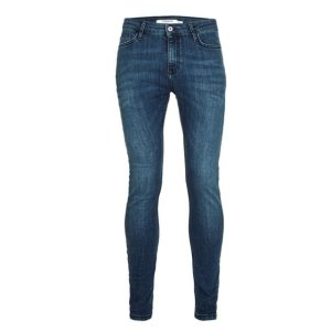 Wash Blue Spray On Skinny Jeans