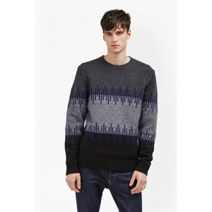 Soundwave Knit Colour Block Jumper | Mens Sale | French Connection Usa