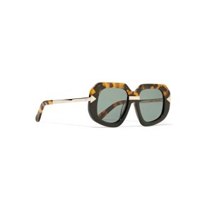 Hollywood Creeper square-frame acetate and metal sunglasses | Karen Walker