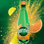 Perrier Sparkling Natural Mineral Water, L'Orange/Lemon Orange