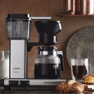 moccamaster kb 741 10 cup coffee brewer with glass carafe brushed silver