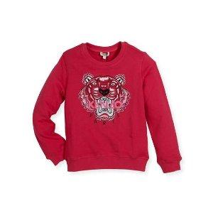 Kenzo Cotton Logo Pullover Sweatshirt, Fuchsia, Size 4-6 and Matching Items