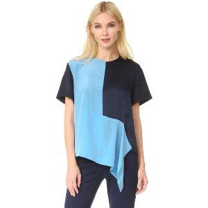Diane von Furstenberg Short Sleeve Paneled Tee | SHOPBOP