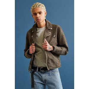 UO Sueded Cotton Moto Jacket | Urban Outfitters