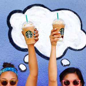 Start from 5/5! Half OffAny Frappuccino Purchase @ Starbucks