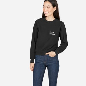 The 100% Human French Terry Sweatshirt in Small Print | Everlane