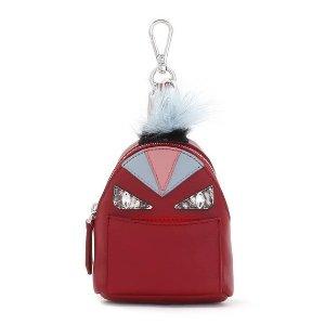 Fendi Mini Monster Backpack Charm for Handbag, Ruby Red