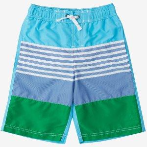 Boys' Ombre Stripe Swim Trunk (8-16) - Classic Blue | Nautica