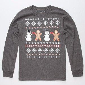 RIOT SOCIETY Snow Party Mens T-Shirt 297307128 | L/S + Baseball Tees