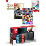Nintendo Switch Neon Mario Kart 8 Deluxe Bundle