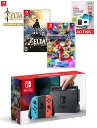 Pre-Order for $499.99Nintendo Switch Neon Mario Kart 8 Deluxe Bundle