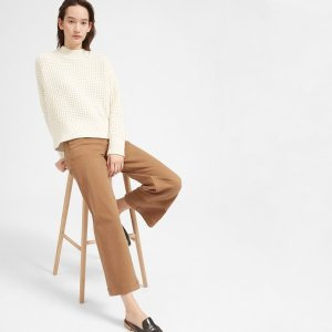 The Wool-Cashmere Waffle Square Crew