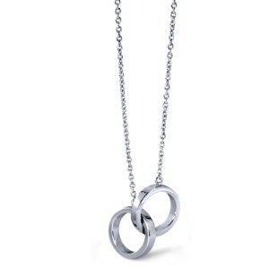 Infinity Rings Necklace in Sterling Silver | Blue Nile