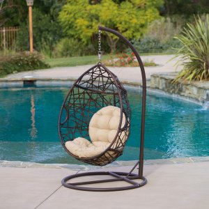 $283.49Outdoor Brown Wicker Tear Drop Chair by Christopher Knight Home