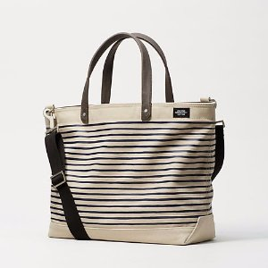 Industrial Canvas Thin Striped Coal Bag - JackSpade