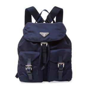 Prada Vela Nylon Small Backpack
