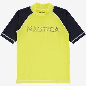 Boys' Rashguard Swim Top (8-16) - Firefly | Nautica
